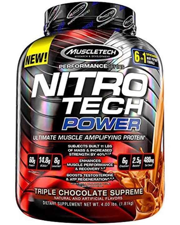 Nitrotech Power - 4lbs - Chocolate Brownie