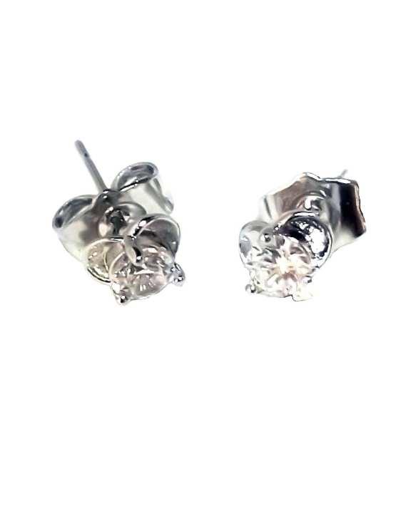 Women's Clover Silver Stud Earrings