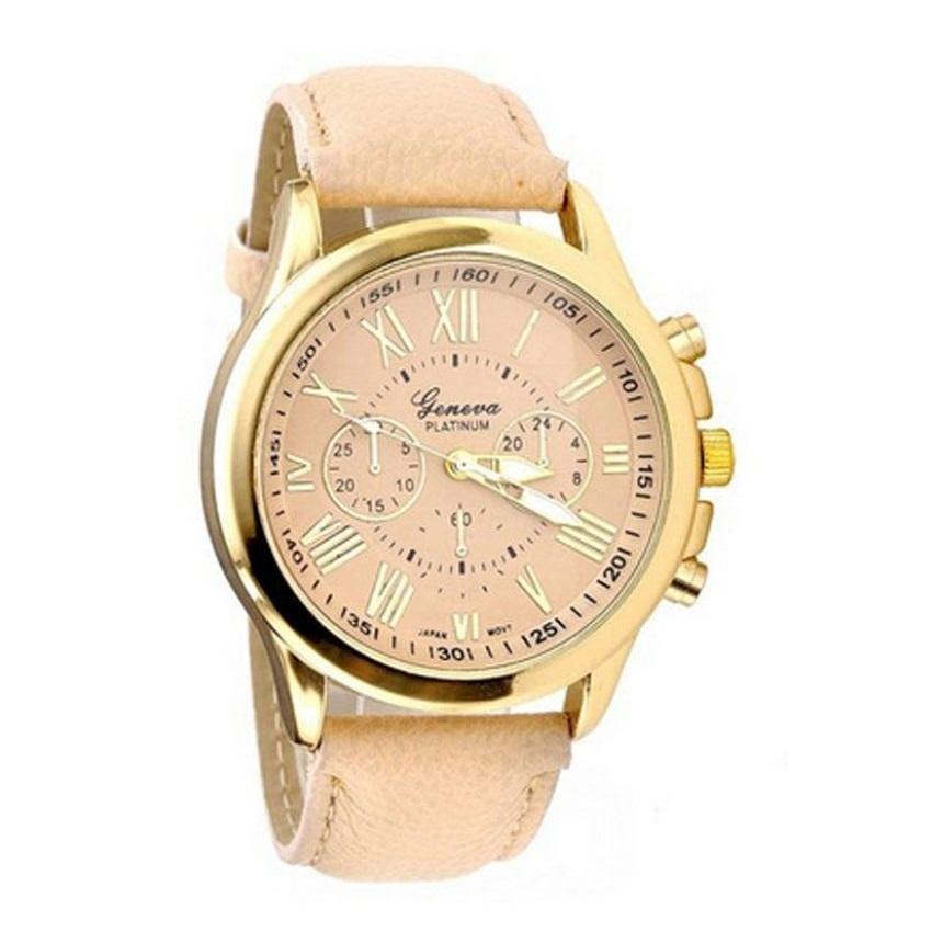 Women's Pink Round Dial Analog Wrist Watch