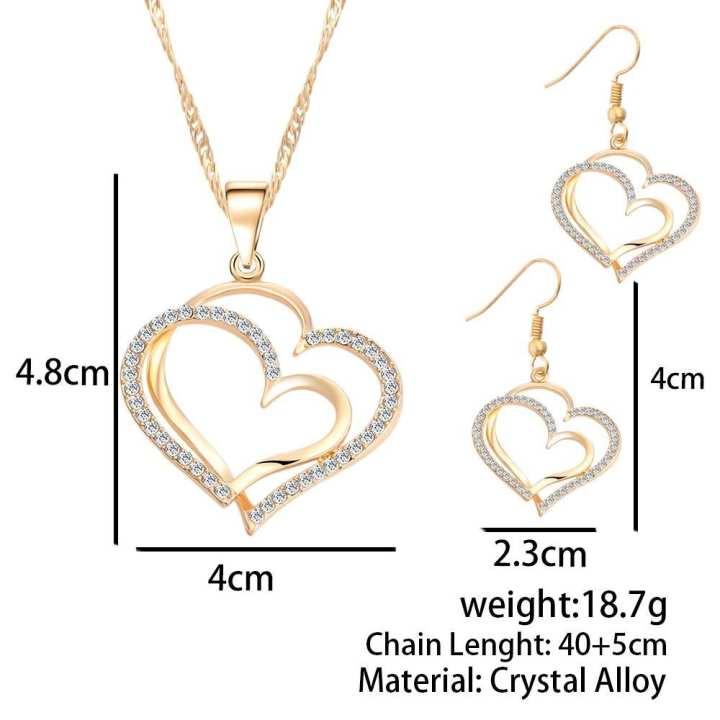 Women's Heart Pattern Jewelry Set