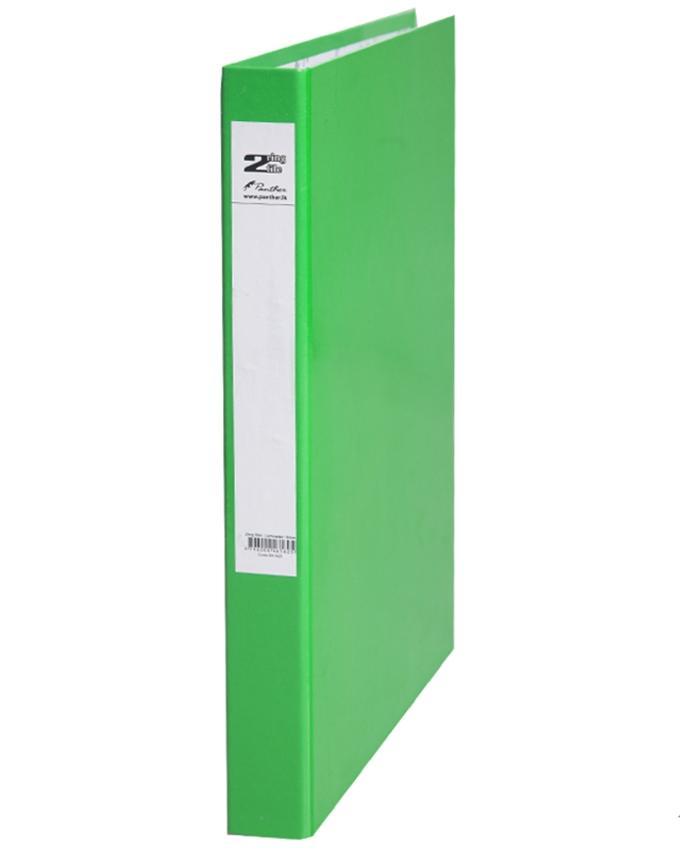 2 Ring Slim Laminated Files 16mm - Light Green