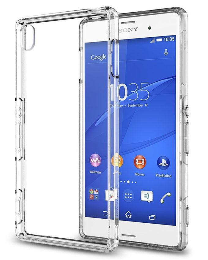 Transparent Backcover For Sony Z3 Dual