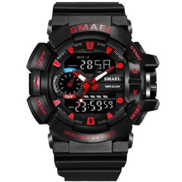 SMAEL Young Sport Watches LED Digital 50M Waterproof Multifunctional Wrist Watch With Alarm Clock And Date