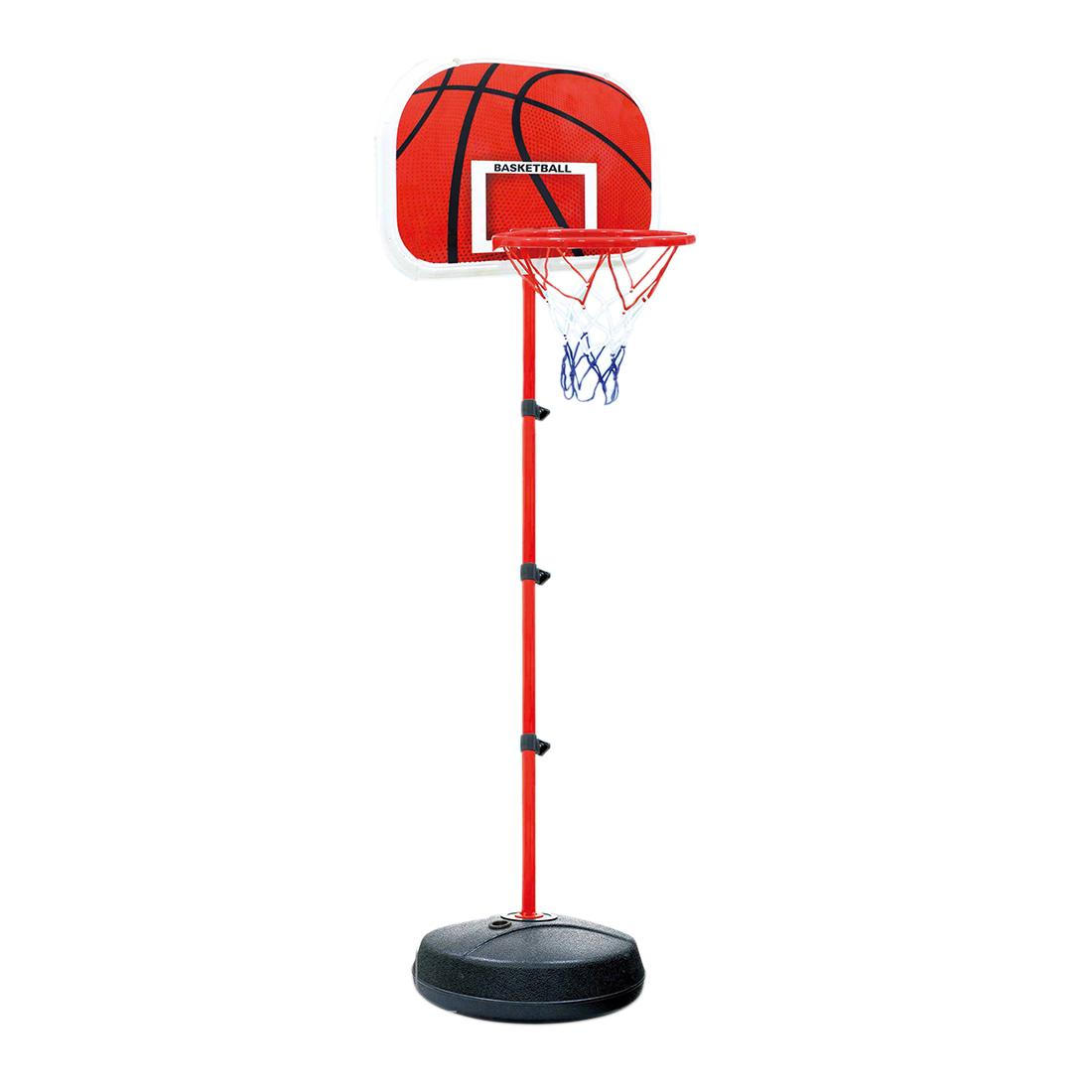 83-200CM Basketball Stands Height Adjustable Kids Basketball Goal Hoop Toy  Set with Plastic Frame and Conventional Base - Black + Red 47f0cac122