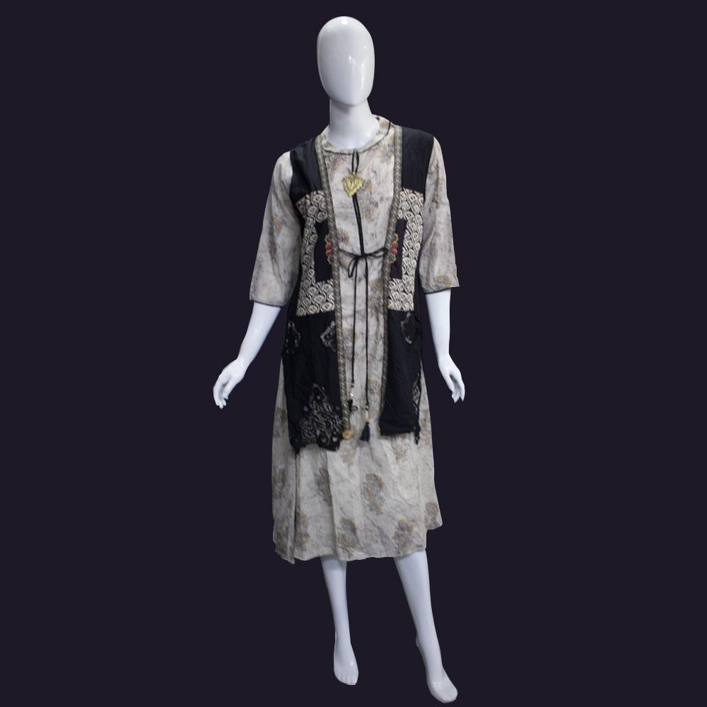 Buy Other Women Fashion At Best Prices Online In Sri Lanka Mannequin Costume Lighting And Wearable Electronics Womens Off White Kurti With Fixed Overcoat
