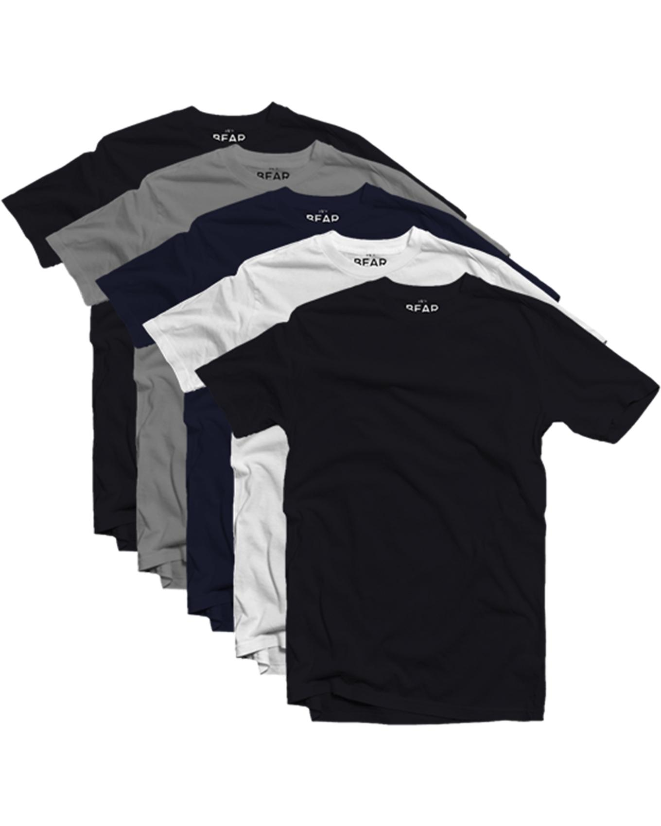 Men's Crew Neck T-shirts - 5 Pack
