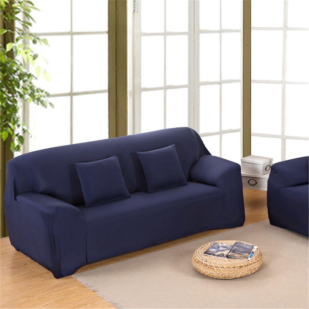 1/2/3/4 Seater Sofa Slipcover Stretch Protector Soft Couch Cover Washable  Easy Fit #2 Seaters