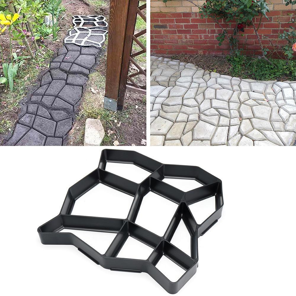 Garden DIY Plastic Paving Model Concrete Stepping Driveway Stone Path Mold Maker