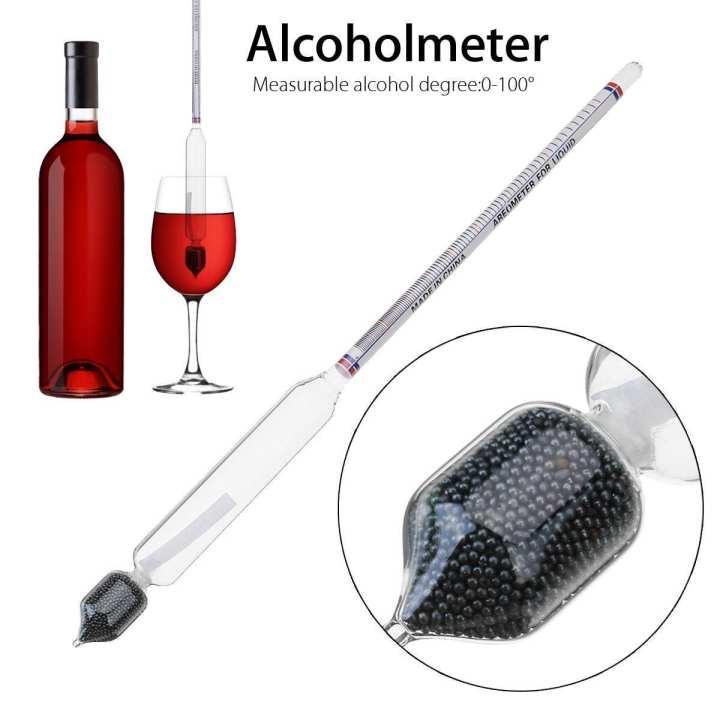 0-100° Hydrometer Home Alcohol Meter For Whiskey Vodka Wine Spirits Density Tester