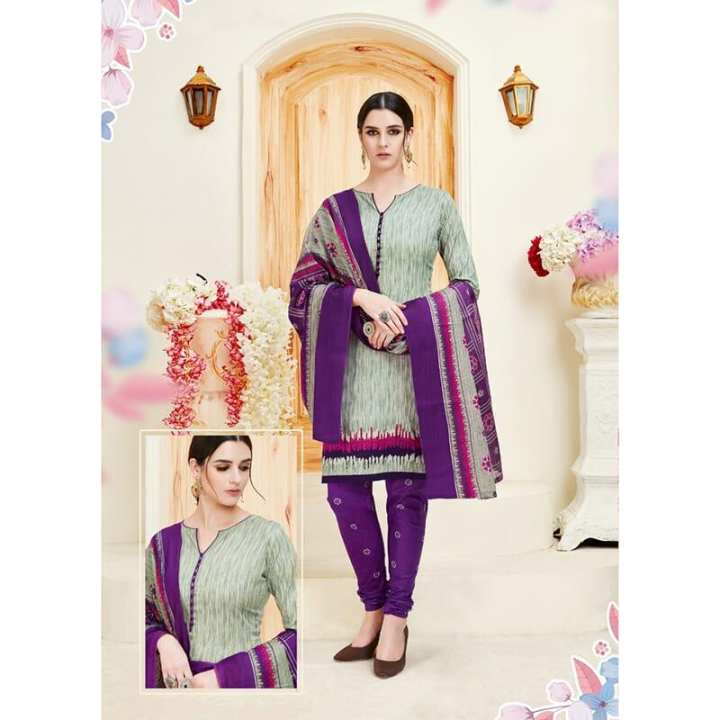 Unstitch Full Cotton Salwar Material - Multi