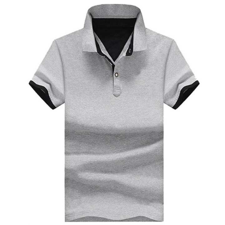 2019 Men's Summer New Pure Collar Cotton Short Sleeves Fashion Casual Comfortable Top