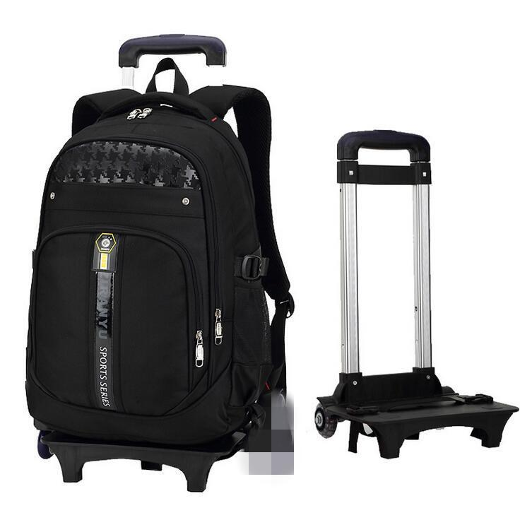 a11054929114 Boys Girls Trolley Backpack School Student Bag Travel Pack with 2 Rolling  Wheels