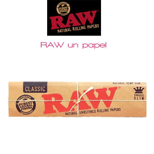RAW classic king size rolling papers without tips