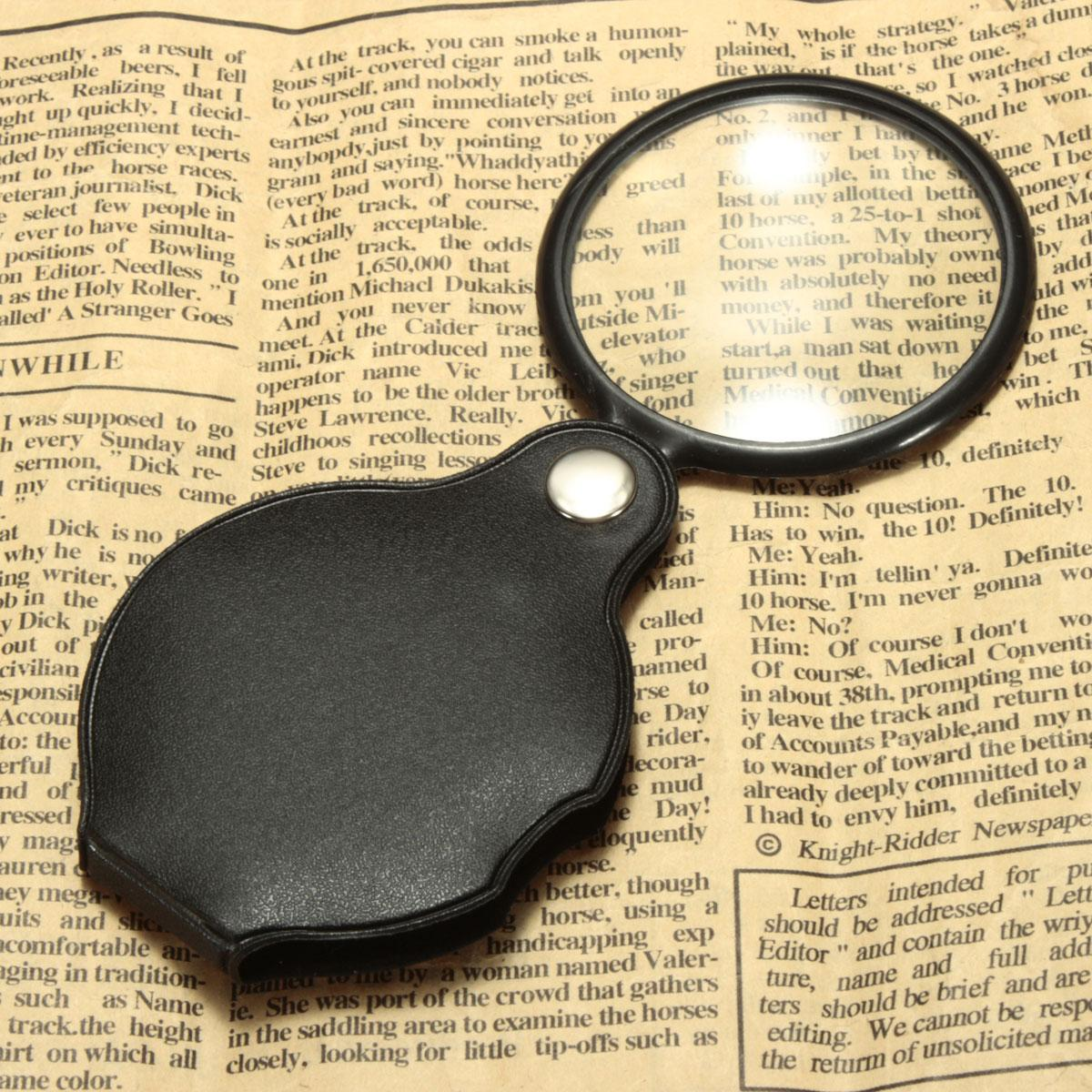 10X Hand-Hold Magnifying Magnifier Glass Foldable Portable Jewelry Loop Loupe