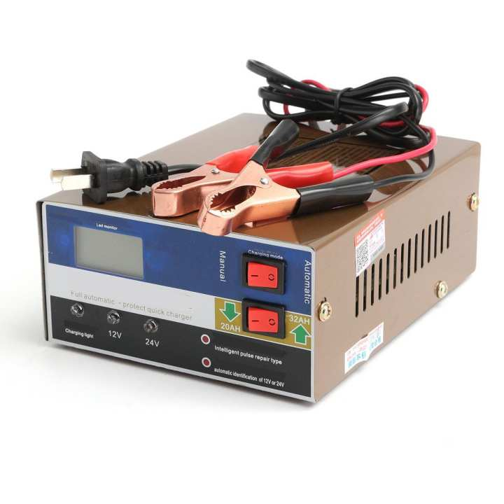12V/24V 100AH Car Motorcycle Battery Charger Intelligent Pulse Repair Smart