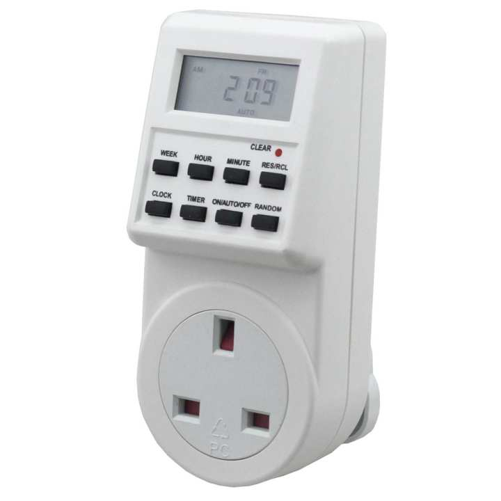 Electronic Plug-in Programmable Timer 12/24 Hour Switch Socket