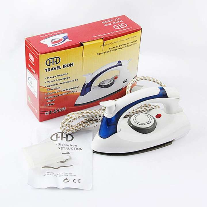 Home Foldable Handle Electric Steam Iron 700W Teflon Baseplate