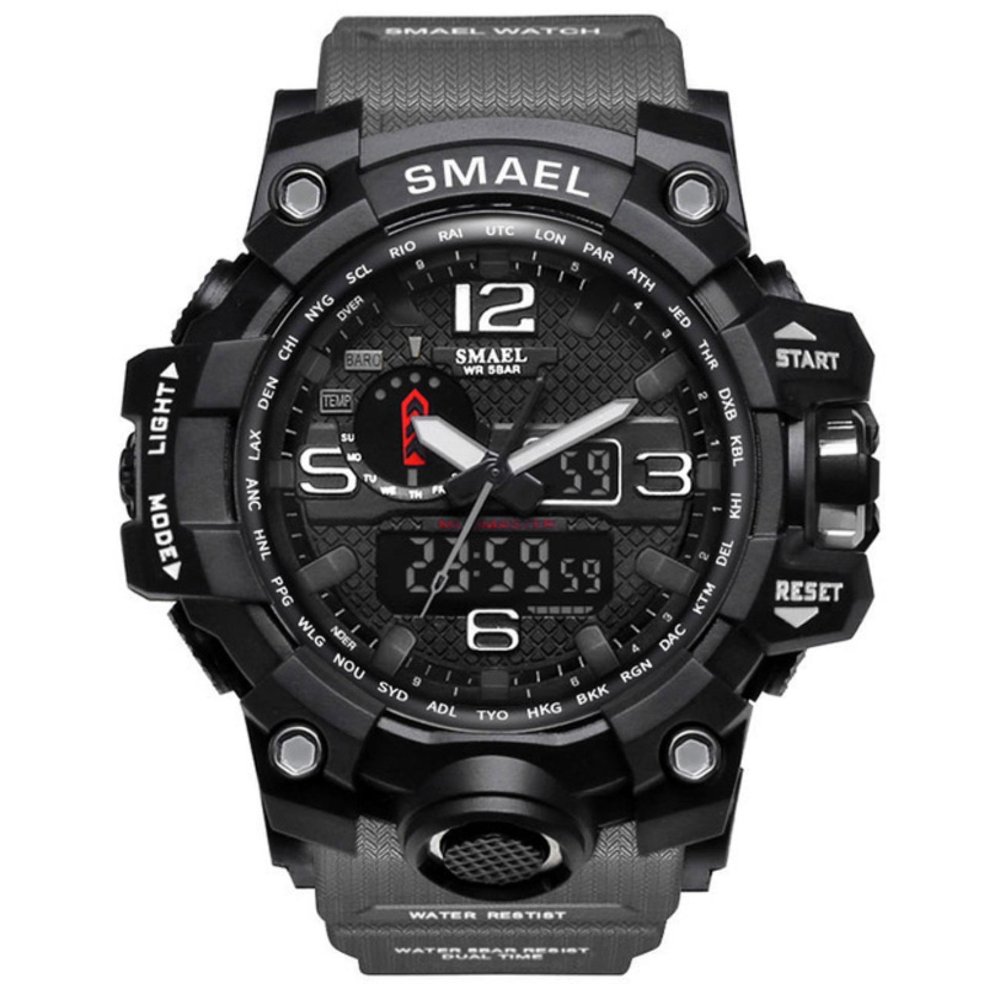 80d3c978c SMAEL Sport Watches For Men Waterproof Digital Watch LED Men\'s Wristwatch  Clock Man