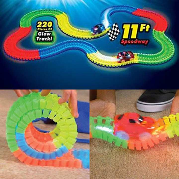 Best Gift Magic Tracks The Amazing Racetrack that Can Bend, Flex Glow 11Ft