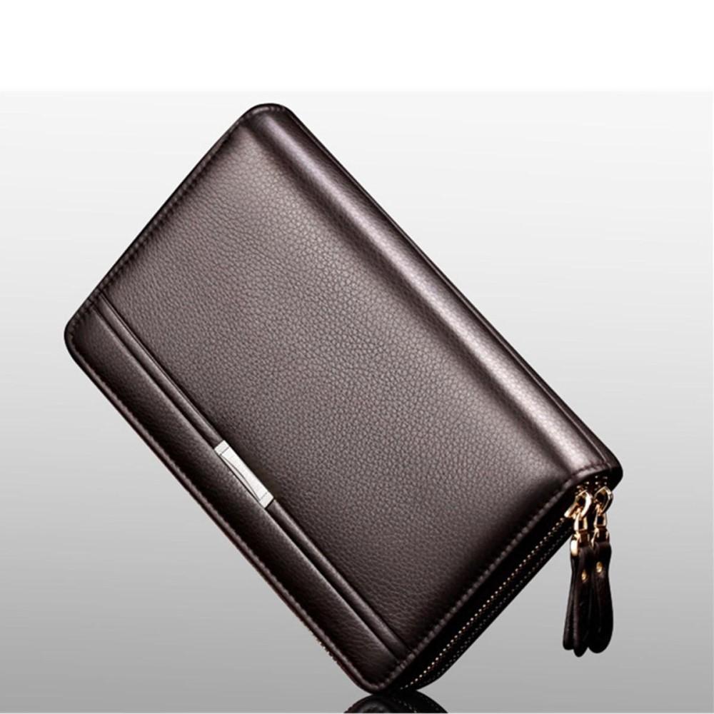 Men Leather Business Clutch Bag Handbag Wallet Purse Mobile Phone Card
