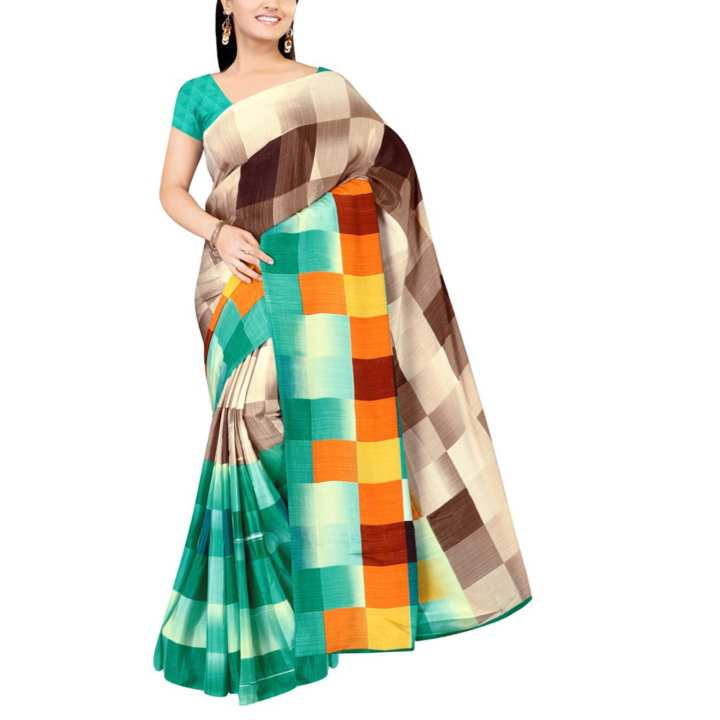 Women's Silk Saree - Multicolour