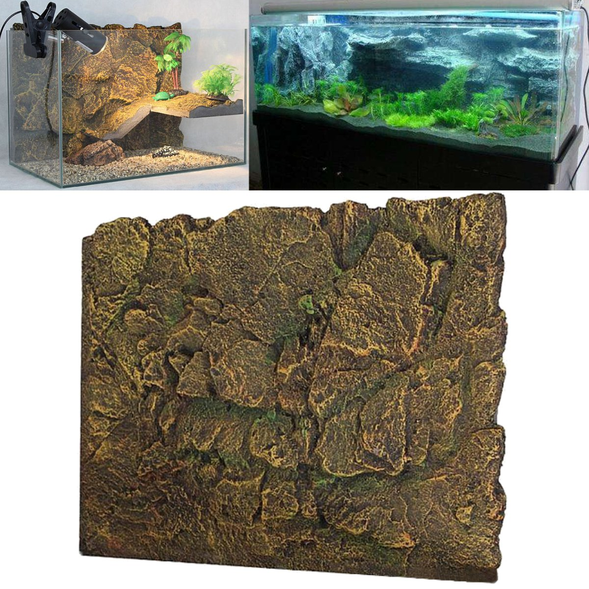 3d Pu Rock Reptile Aquarium Fish Tank Background Backdrop Board Decor 60x45cm Buy Sell Online Best Prices In Srilanka Daraz Lk