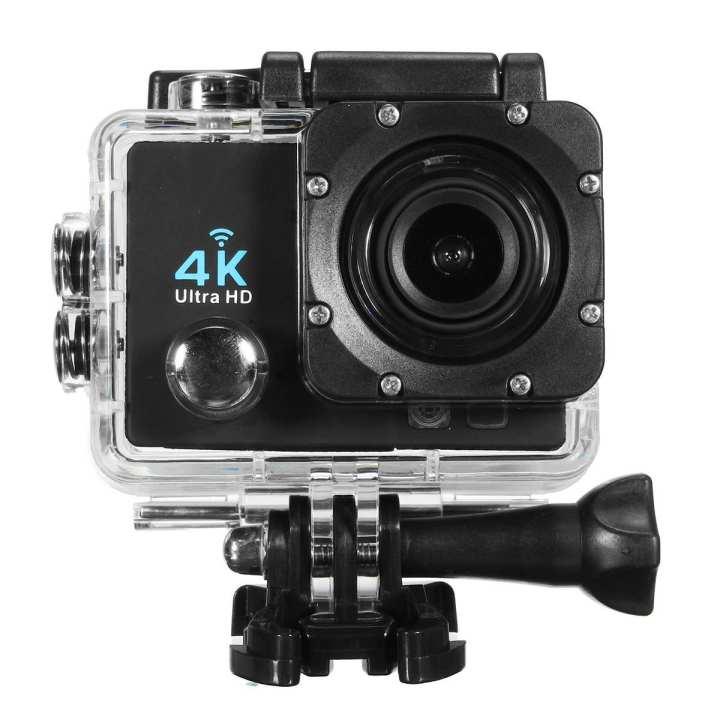 Wifi 1080P 16MP 4K Ultra HD Sports Action Camera DVR DV Cam Camcorder Waterproof Black