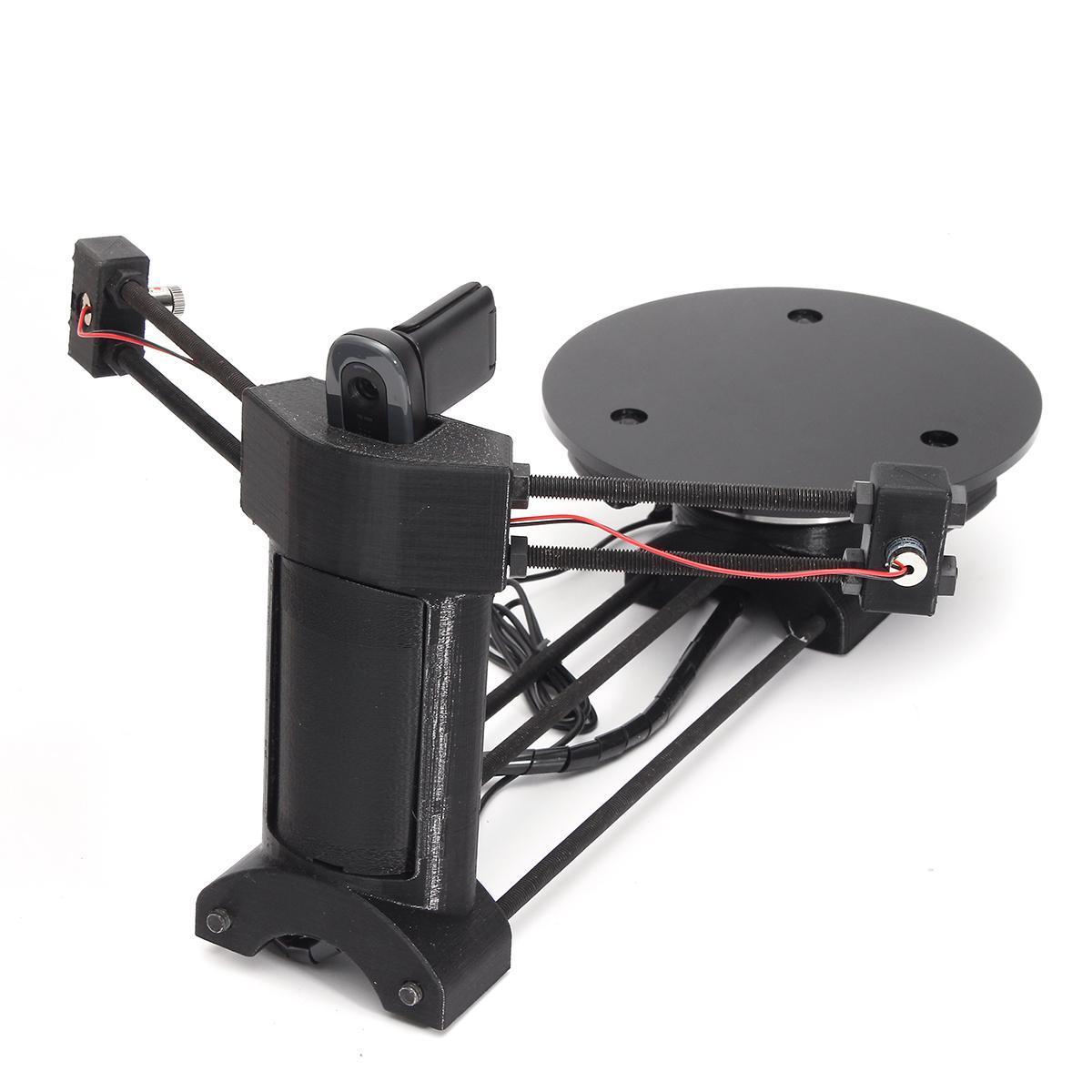 Black DIY Open Source 3D Laser Scanner w/Adapter Object Plate For Ciclop  Printer