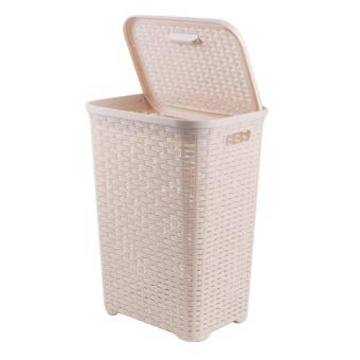 Rattan Laundry Bin - Brown