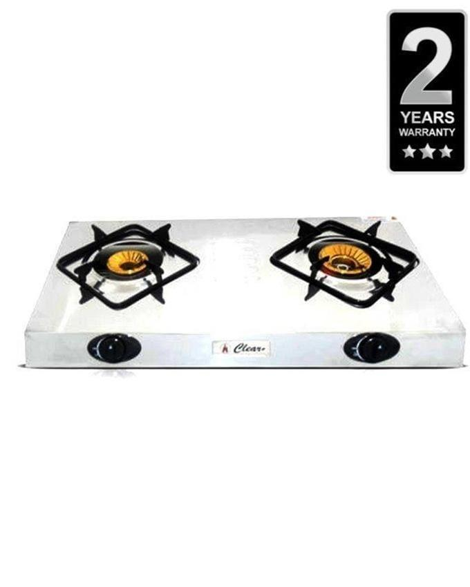 Stainless Steel 2 Burner Gas Cooker - 2-N5-S