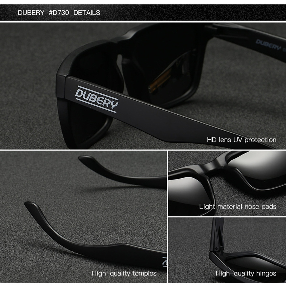 Dubery Unisex Fashion Polarized Uv400 Sunglasses With Box 99 9 Light Transmission Square Glasses Driving Fishing Outdoor Travel Beach Cycling Gifts For Birthday Christmas Buy Sell Online Best Prices In Srilanka Daraz Lk