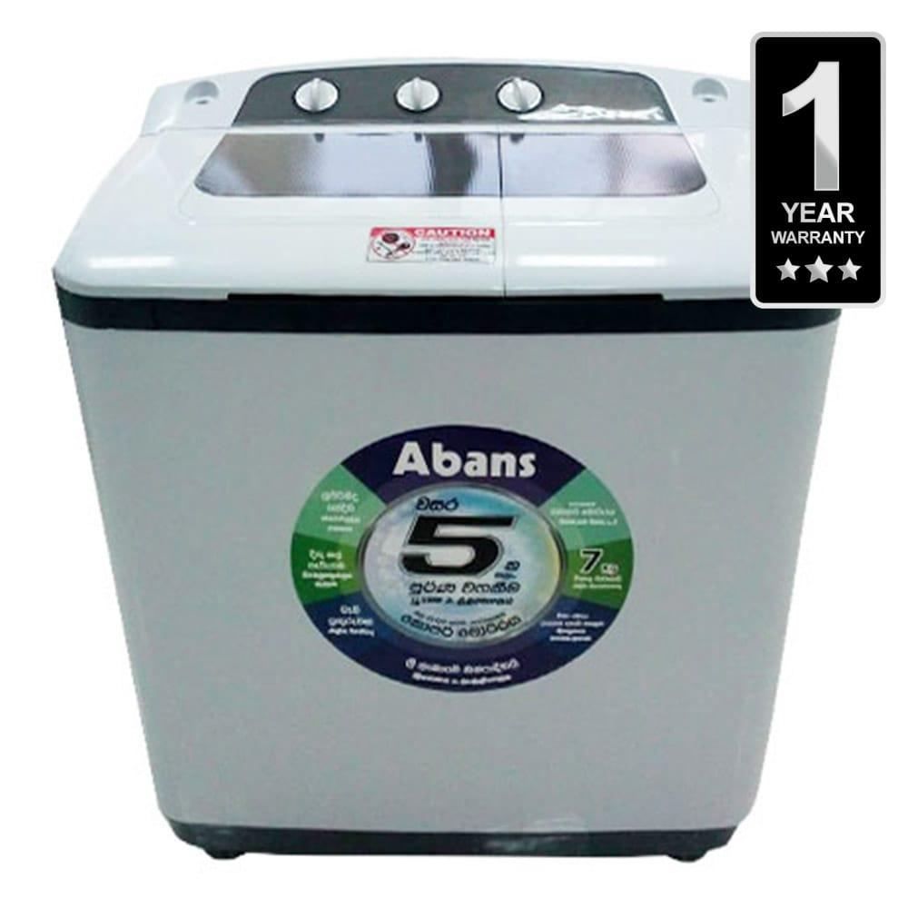 Abans Semi Auto Washing Machine 7Kg - White