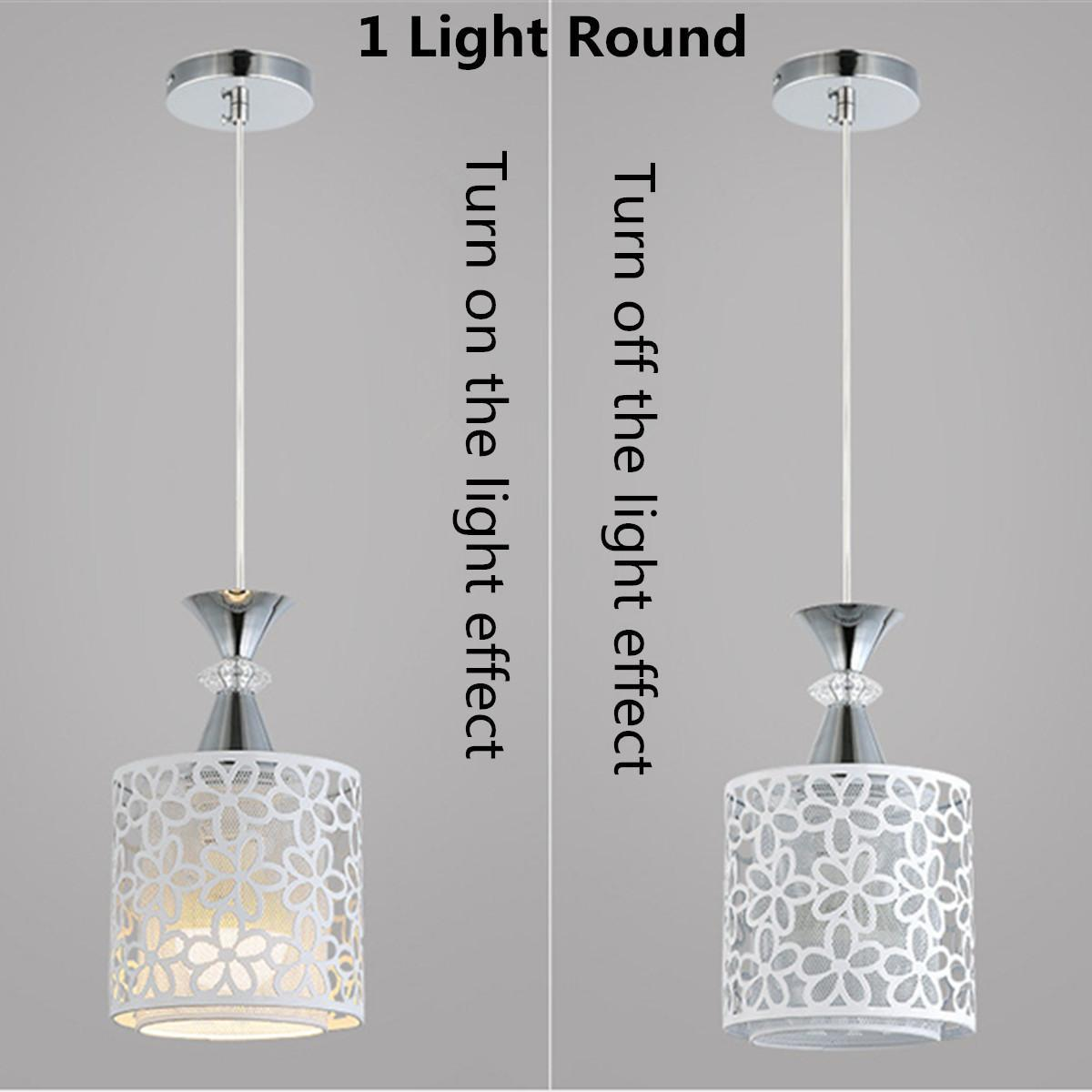 Modern Flower Petal Ceiling Light LED Pendant Lamp Dining Chandelier Room Decor #1 Light Round