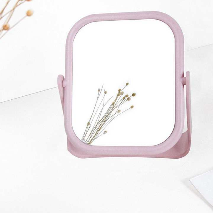 Double-Sided Rotating Vanity Mirror Desktop Small Mirror