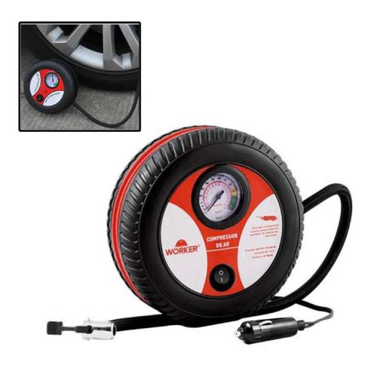 Air Compressor DC12 Red Tyre