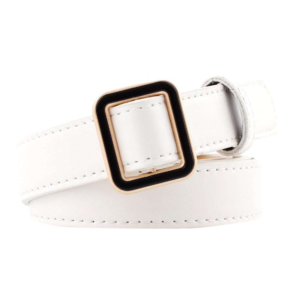 ab6cef3858 Women Man Unisex Vintage Leather Buckle Leisure Belt Trouser Accessories