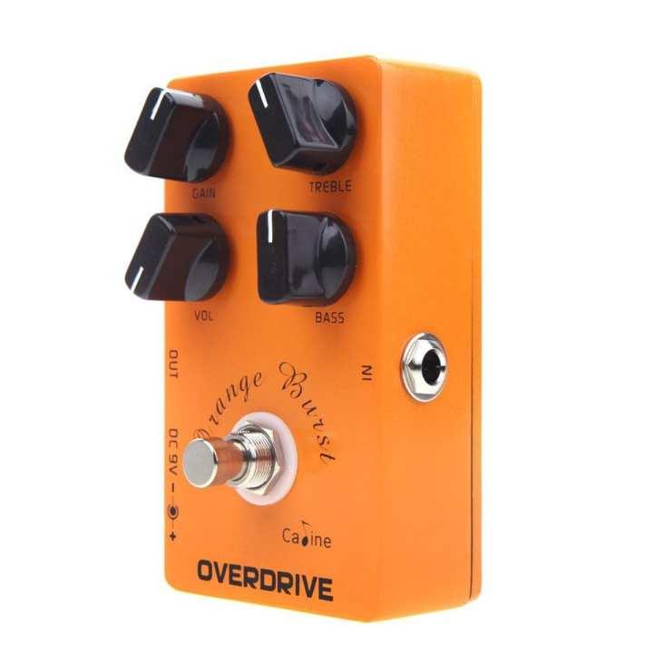 Caline CP-18 OD Guitar Pedal Overdrive Guitar Effect Pedal True Bypass Orange Burst