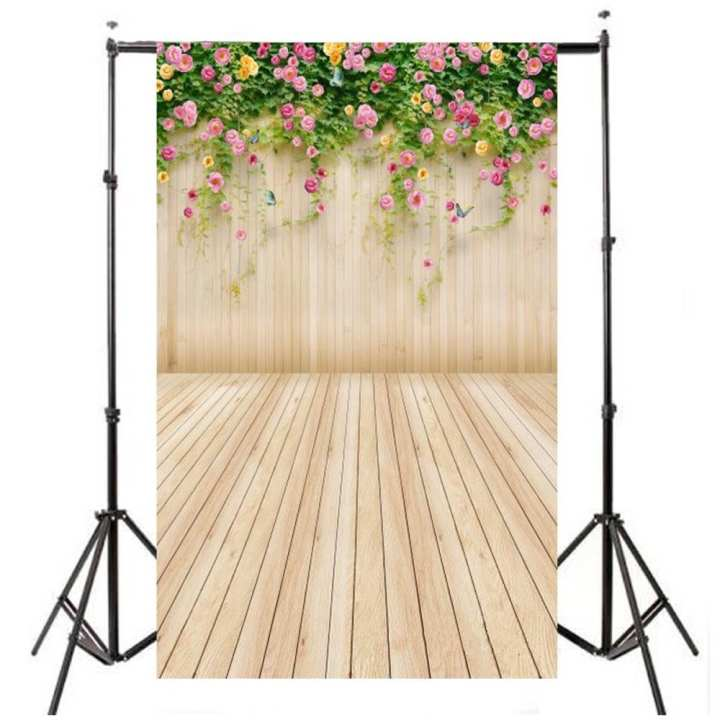 90cmx150cm Flower Wood Wall Vinyl Photography Backdrop Photo Studio Background