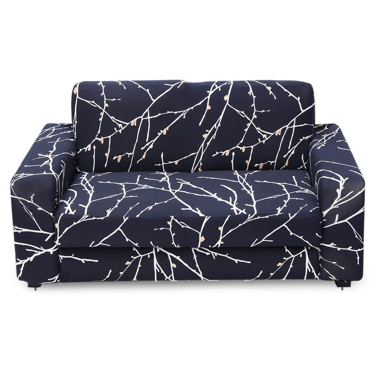 2 Seaters Elastic Sofa Cover Soft Stretch Slipcover Settee Protector Couch