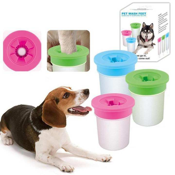 790-11 Silicone Bristles Pet Wash Feet Cup Dirty Muddy Pet Foot Cleaning Cup