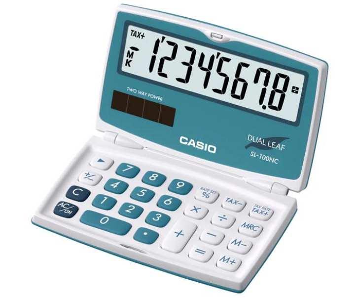 Casio Portable Calculator SL-100NC-BU