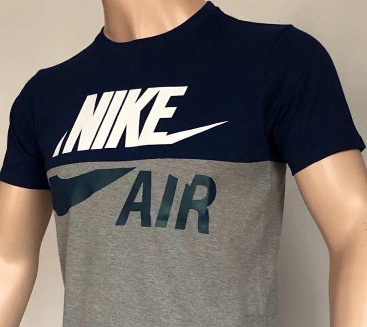 T Shirt for Men Blue/Ash Replica