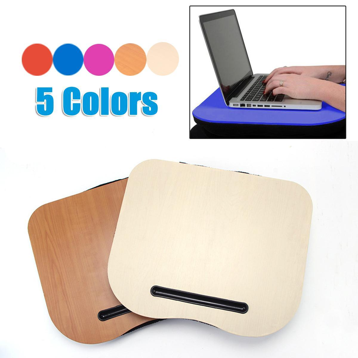 Portable Tray Lap Desk Table Cushioned Computer Reading Writing Laptop Pad