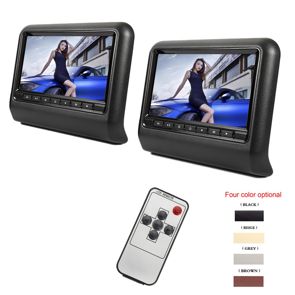 Black Color Portable Car Headrest Tv Monitor 9 Inch 800 X 480 Lcd Screen Backseat Monitor Full Functional Remote Control 2 Pcs Buy Sell Online Best Prices In Srilanka Daraz Lk