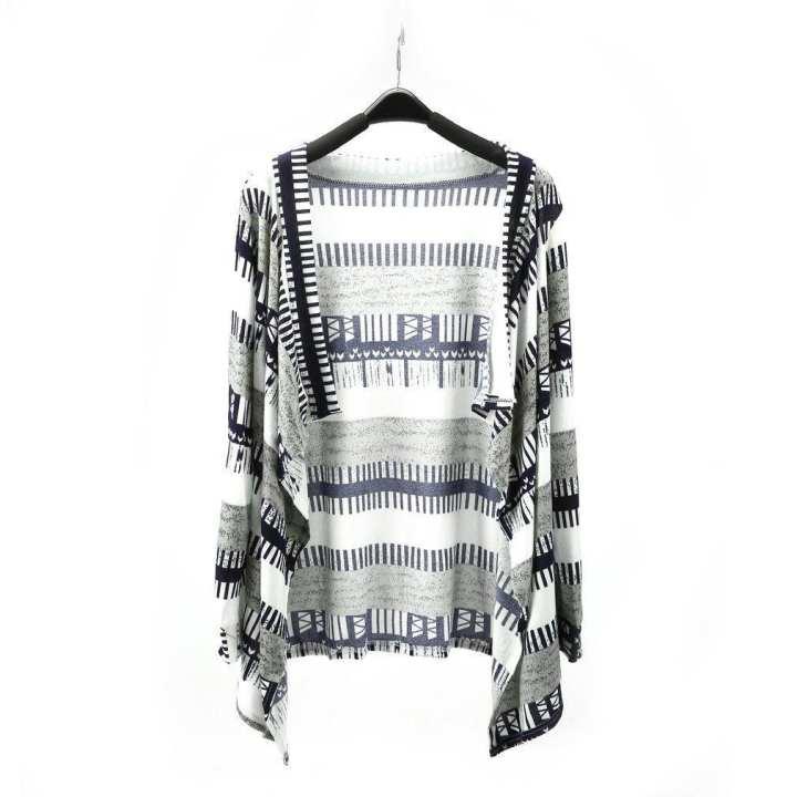 Irregular Loose Long Sleeve Knitted Cardigan Sweater Women Outwear Shirt