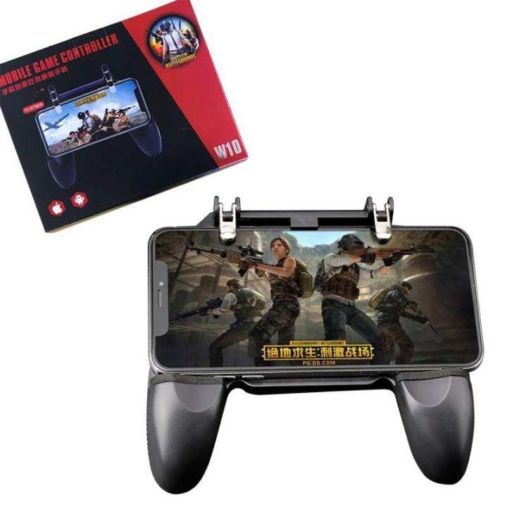 W10 Mobile Phone Game Controller Gamepad Joystick Fire Trigger For PUBG Fortnite