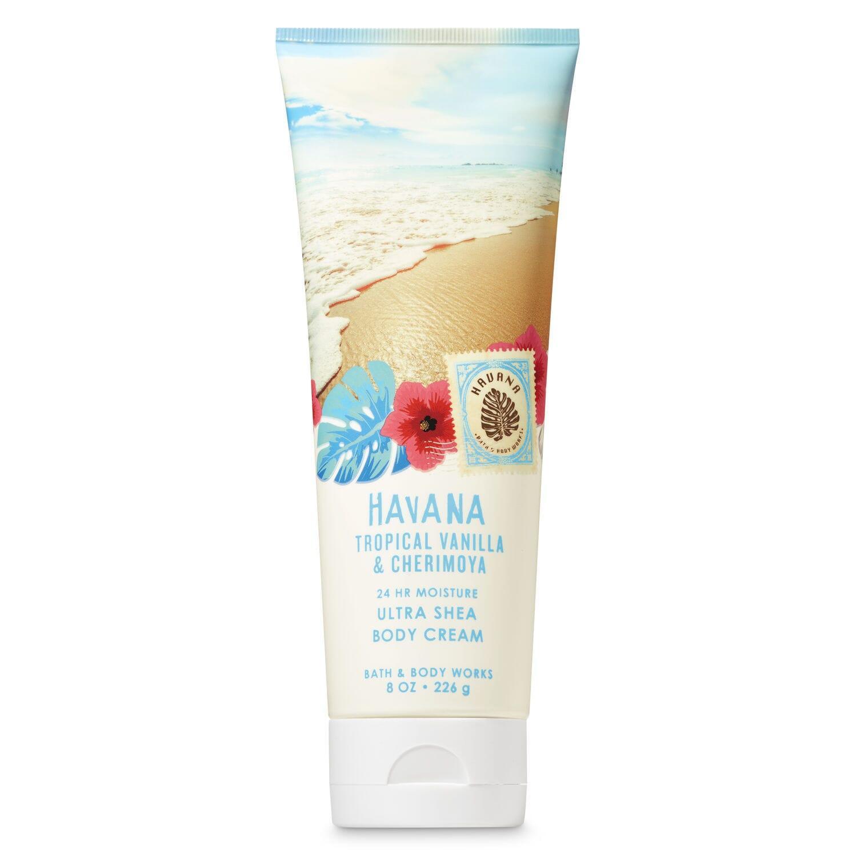 Bath & Body Works Tropical Vanilla & Cherimoya Body Cream - 226G