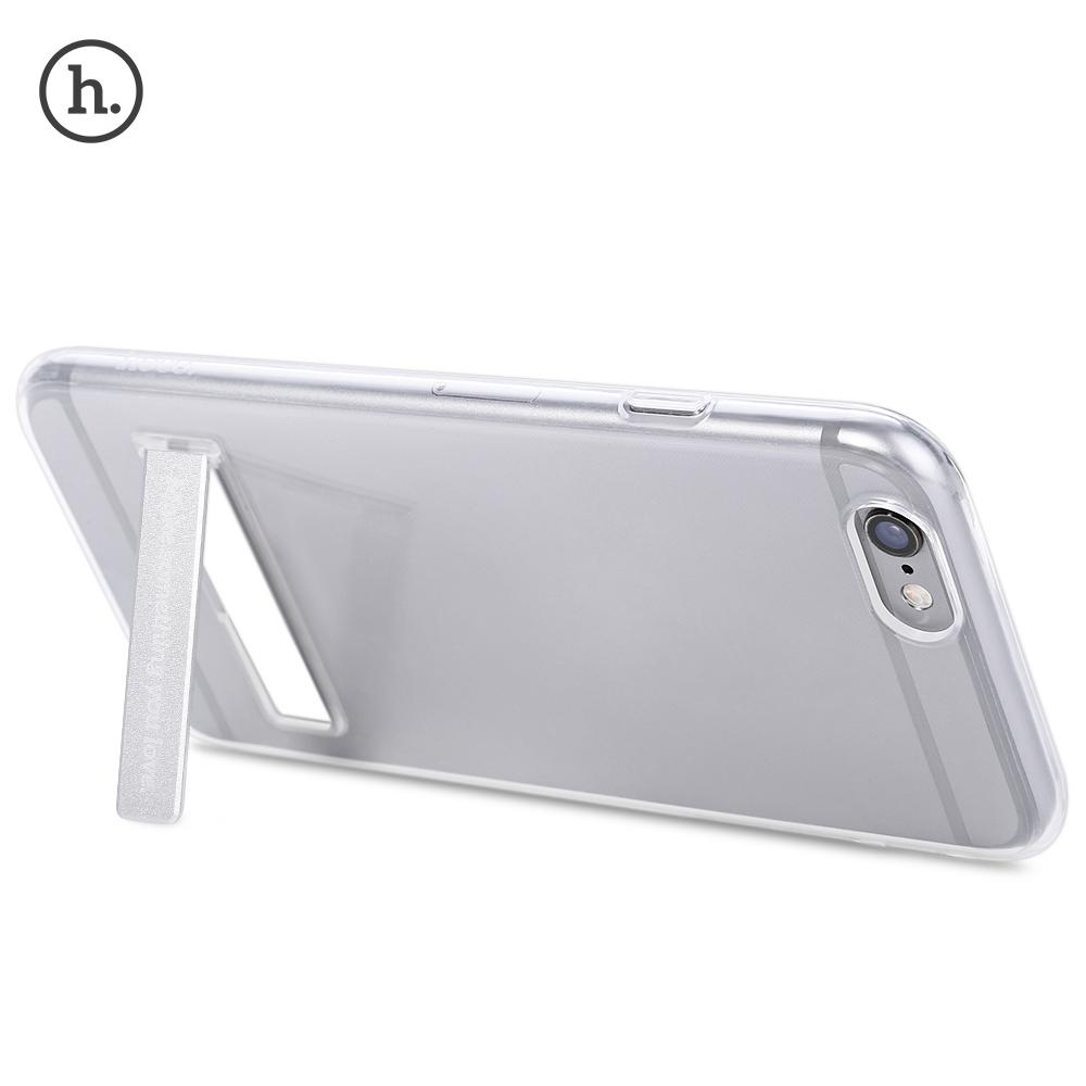 HOCO 4.7 Inch Transparent TPU Phone Cover Magnetic Stand for iPhone 6 / 6S