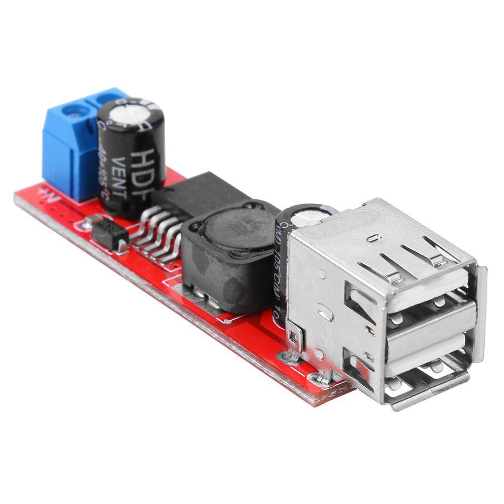 Dual USB Output 9V/12V/24V/36V to 5VDC-DC Car Charger 3A Step-down Module