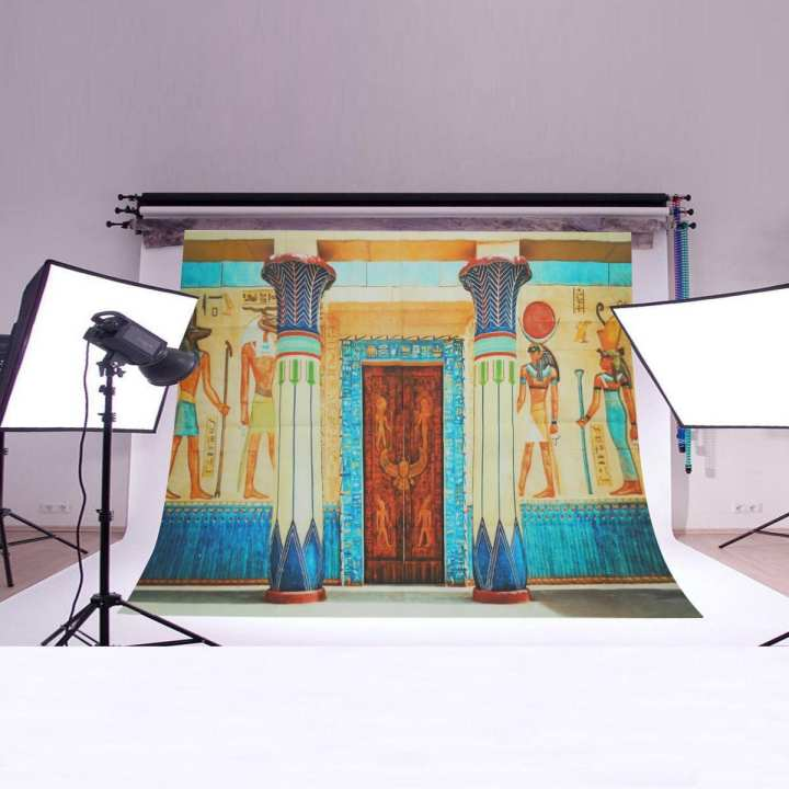Couple Vinyl Backdrops Photography Background Egyptian architecture # 150*210cm